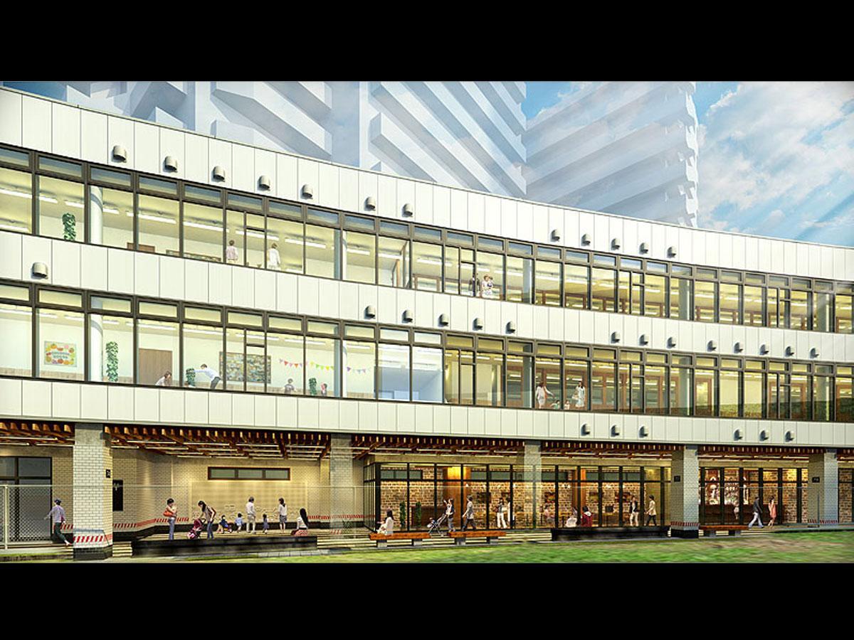 「渋谷しぜんの国こども園(仮称)」がオープンするA棟の外観イメージ(提供:東急電鉄)