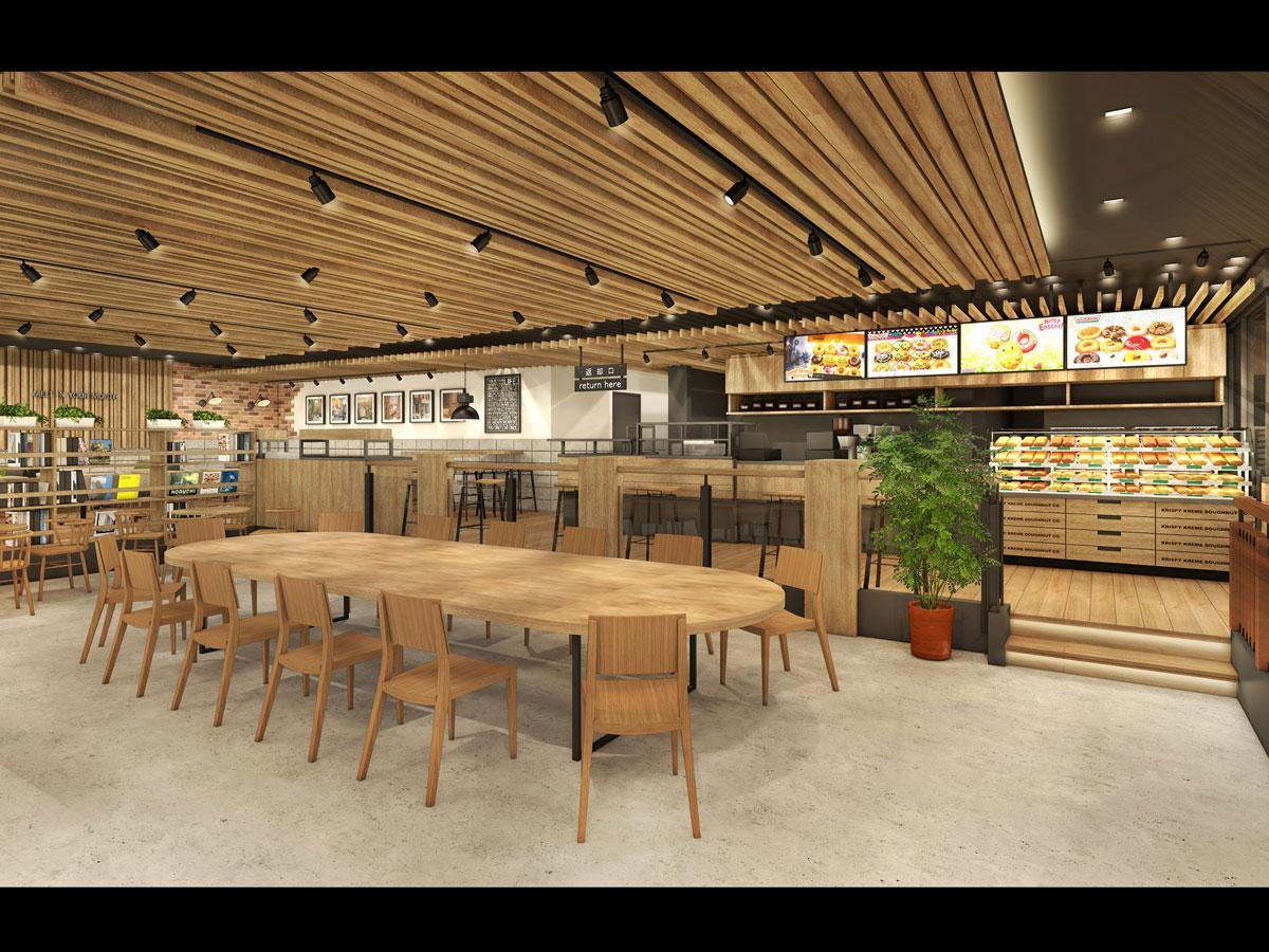 木目を基調にする店舗のイメージ