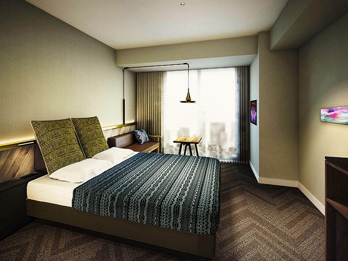 「ビンテージモダン」を表現したデザインに仕上げる客室イメージ