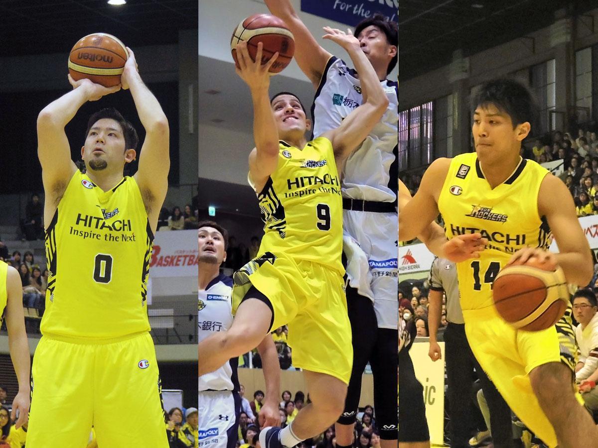 (左から)満原優樹選手・ベンドラメ礼生選手・杉浦佑成選手