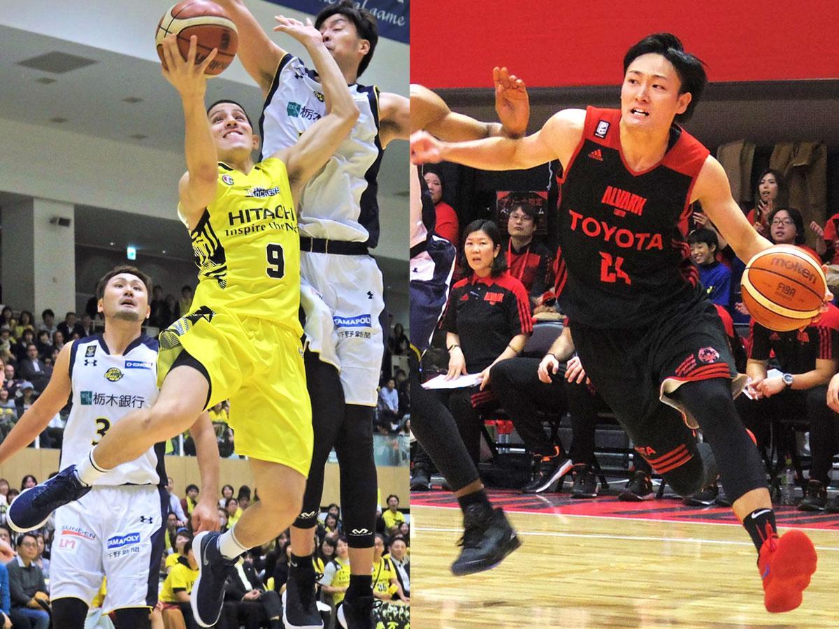 開幕節でダービー戦を行うサンロッカーズ渋谷(ベンドラメ礼生選手)とアルバルク東京(田中大貴選手)