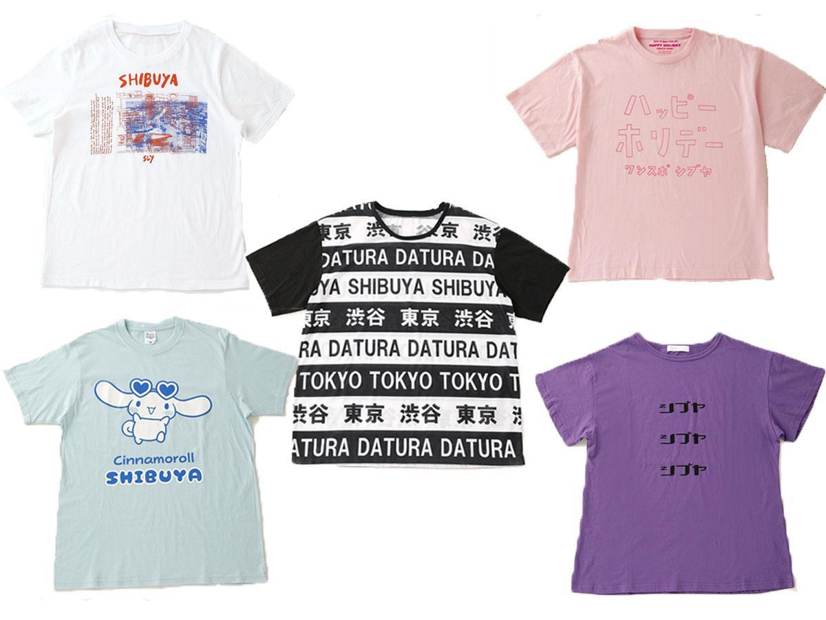 SHIBUYA109のブランドが販売するTシャツの一部