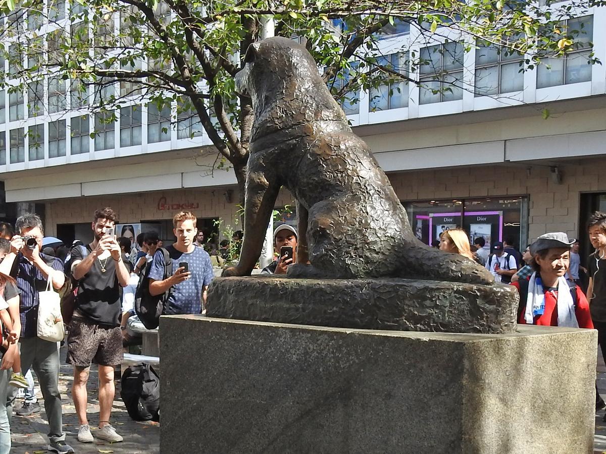 待ち合わせスポット、観光名所としてにぎわう「忠犬ハチ公像」