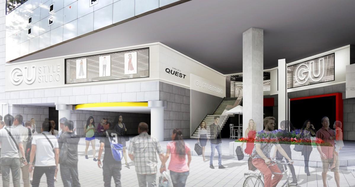 原宿駅近くの商業施設「原宿クエスト」2階にオープンする新店舗(外観イメージ)