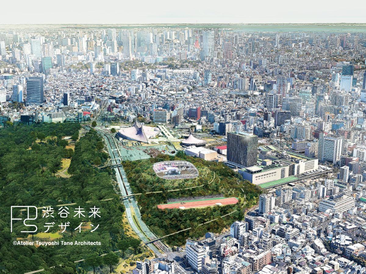 代々木公園で建設を目指すスタジアム(イメージ画像)