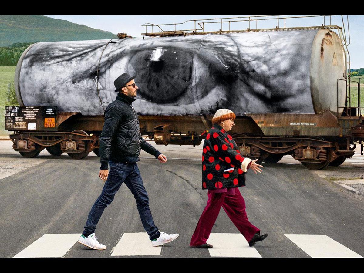 アニエス・ヴァルダさんとJRさんが共同製作した「顔たち、ところどころ」より©Agnes Varda - JR - Cine-Tamaris - Social Animals 2016.