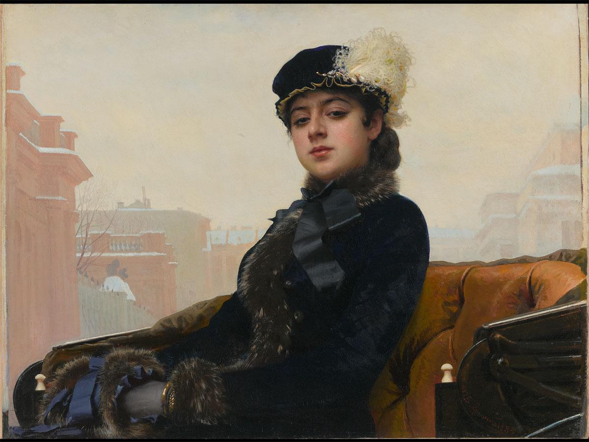 約10年ぶりに来日展示を予定する「忘れえぬ女」(イワン・クラムスコイ、1883年)©The State Tretyakov Gallery