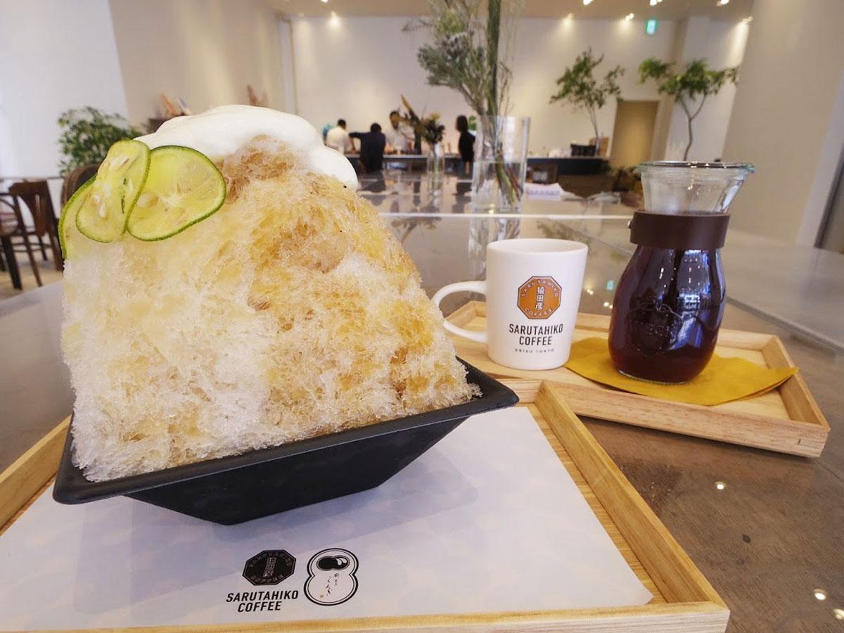 コーヒー蜜とスダチ蜜をかける「墨橘」