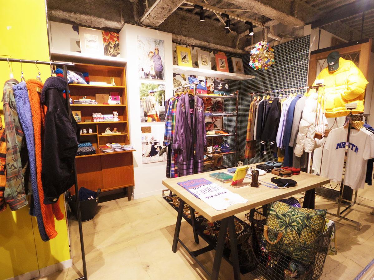 丸山さんがセレクトしたブランドの商品が並ぶ店内