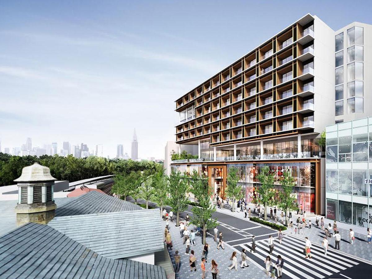「イケア」が出店予定の「原宿駅前プロジェクト」(写真右手)イメージ