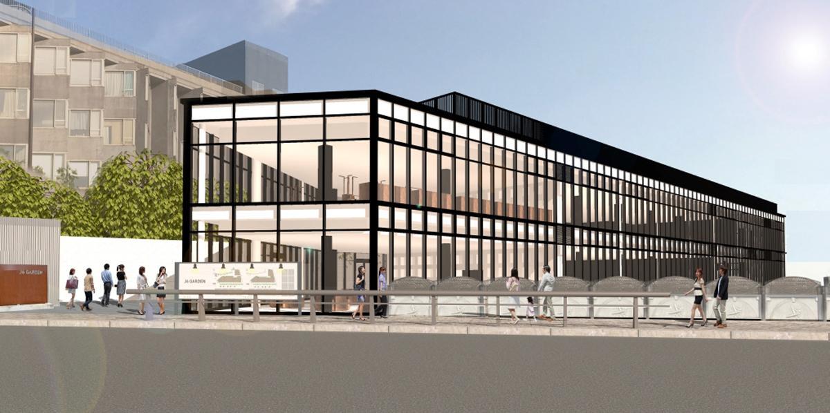 原宿駅近くに来年1月開業する「神宮前6丁目プロジェクト(仮称)」外観イメージ