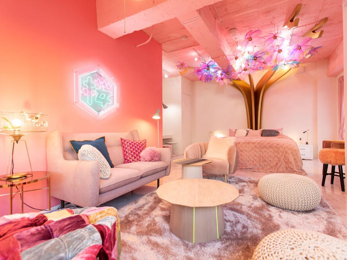 桜をテーマにした室内