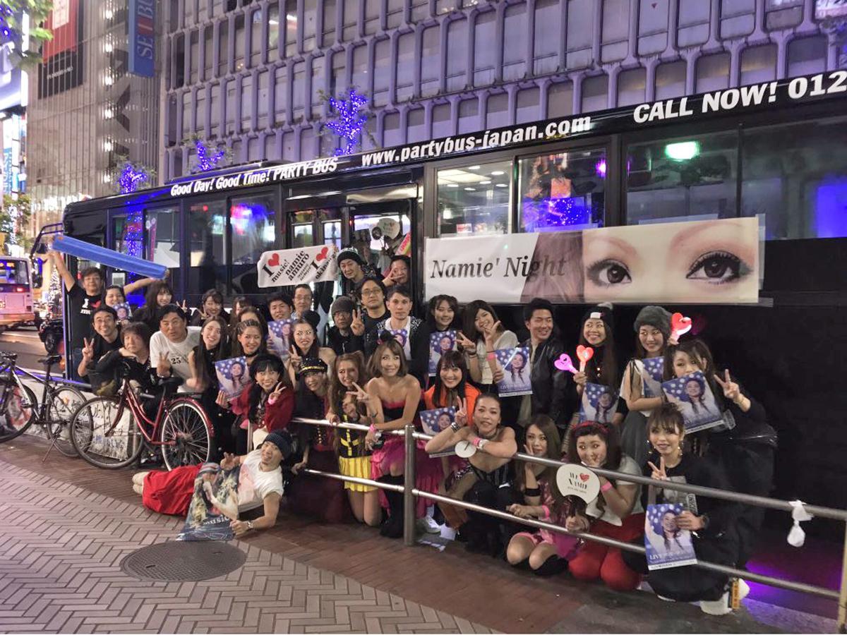 ナイトイベント出発地点の渋谷に集まった安室さんのファンたち