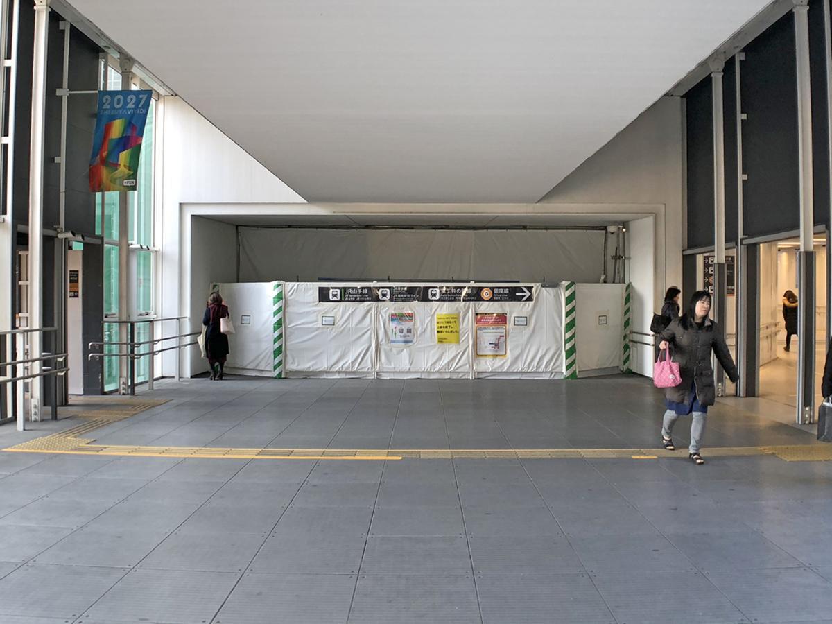 渋谷ヒカリエ連絡通路とつながる新通路入り口(今月20日に開通)