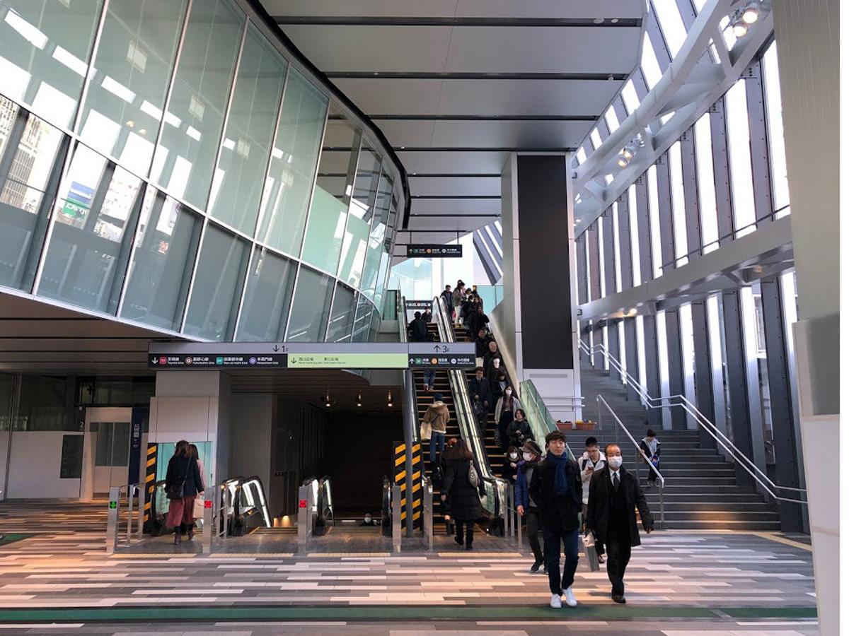 渋谷駅と渋谷ヒカリエ方面の結節点となるアーバン・コアの2階部分