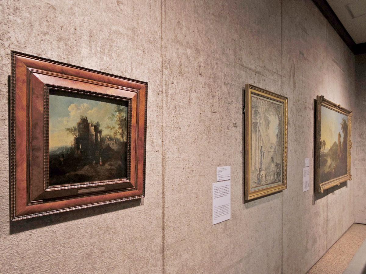 展示する中で最も古いのは17世紀に描かれた作品(左)