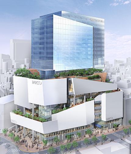 今秋開業する「渋谷パルコ」(外観イメージ)