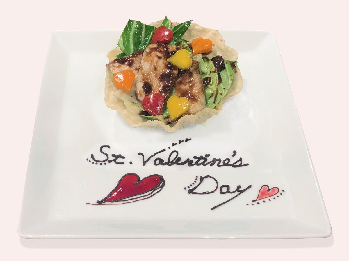 バレンタイン限定で提供する「CHOCO回鍋肉」