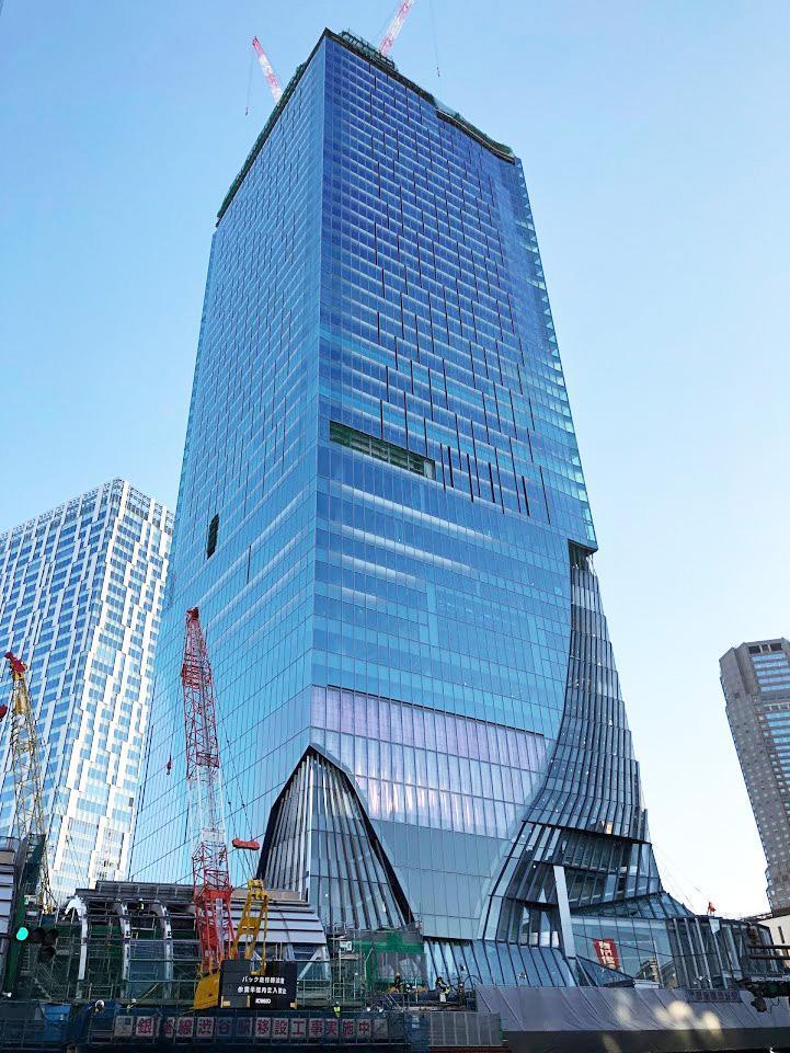 建設工事が進む「渋谷スクランブルスクエア東棟」