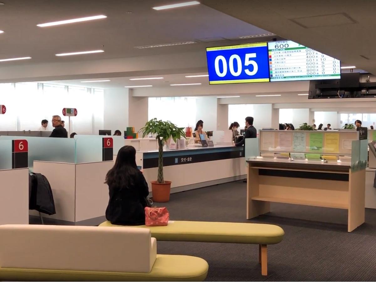 渋谷区新庁舎の住民戸籍課などがある3階フロア