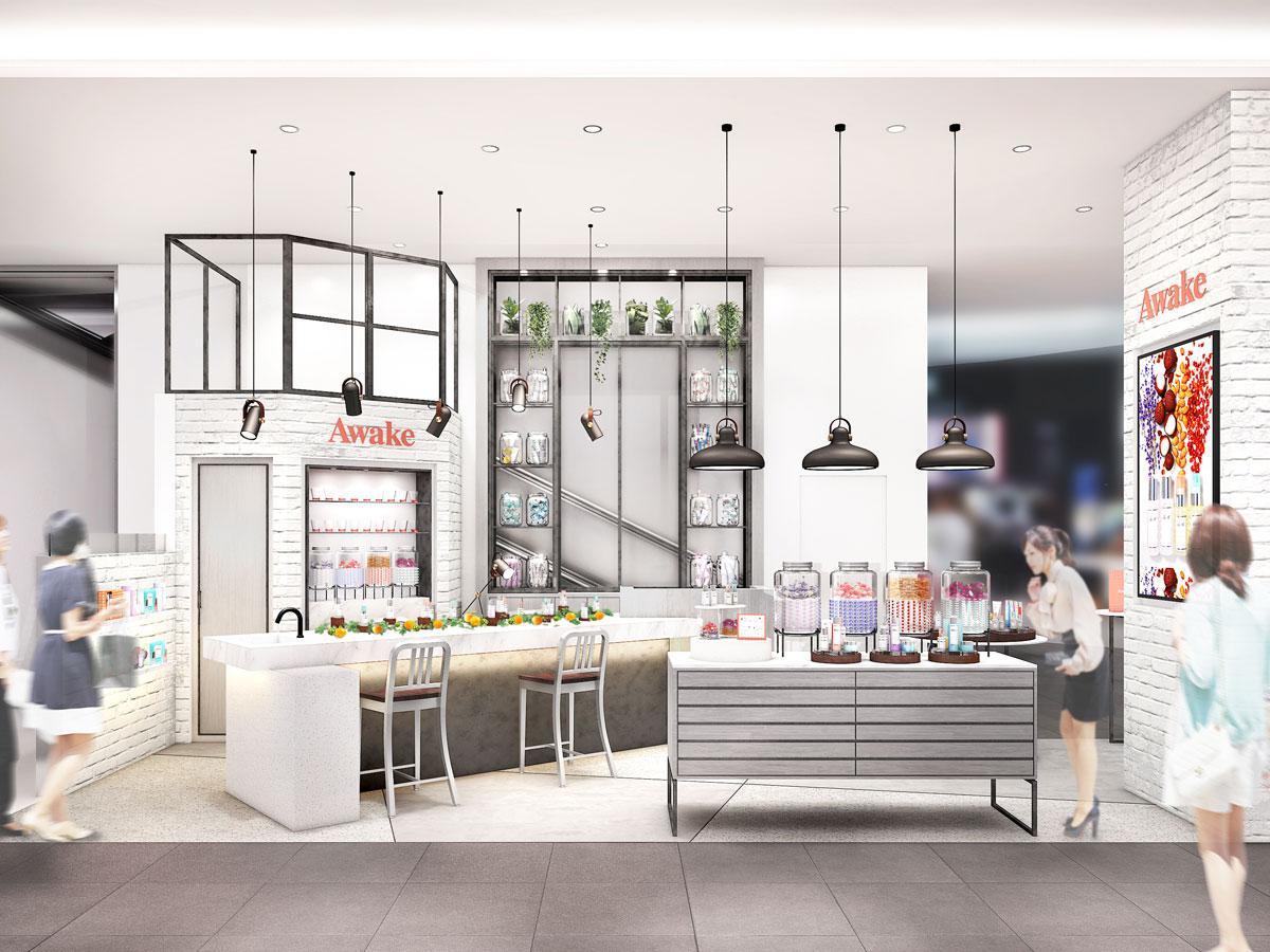 コンセプトショップ1号店となる「Awake」の店舗イメージ