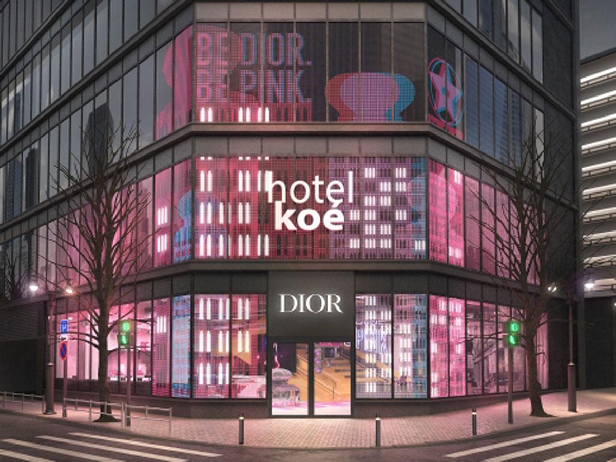 イベント開催時の「hotel koe tokyo」の外観イメージ