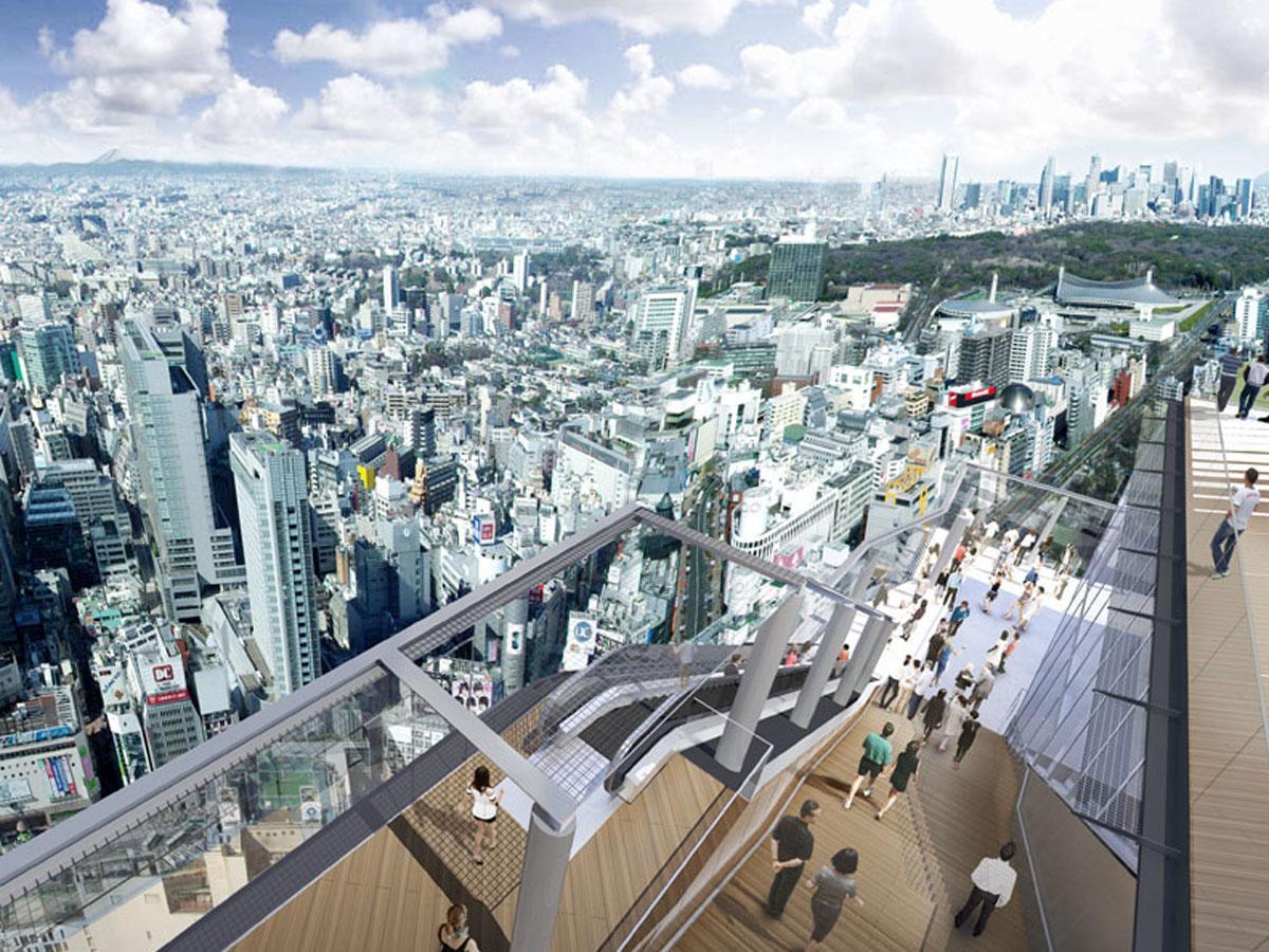渋谷スクランブルスクエア東棟「SHIBUYA SKY」屋上展望空間からの眺望イメージ(画像提供=渋谷スクランブルスクエア)