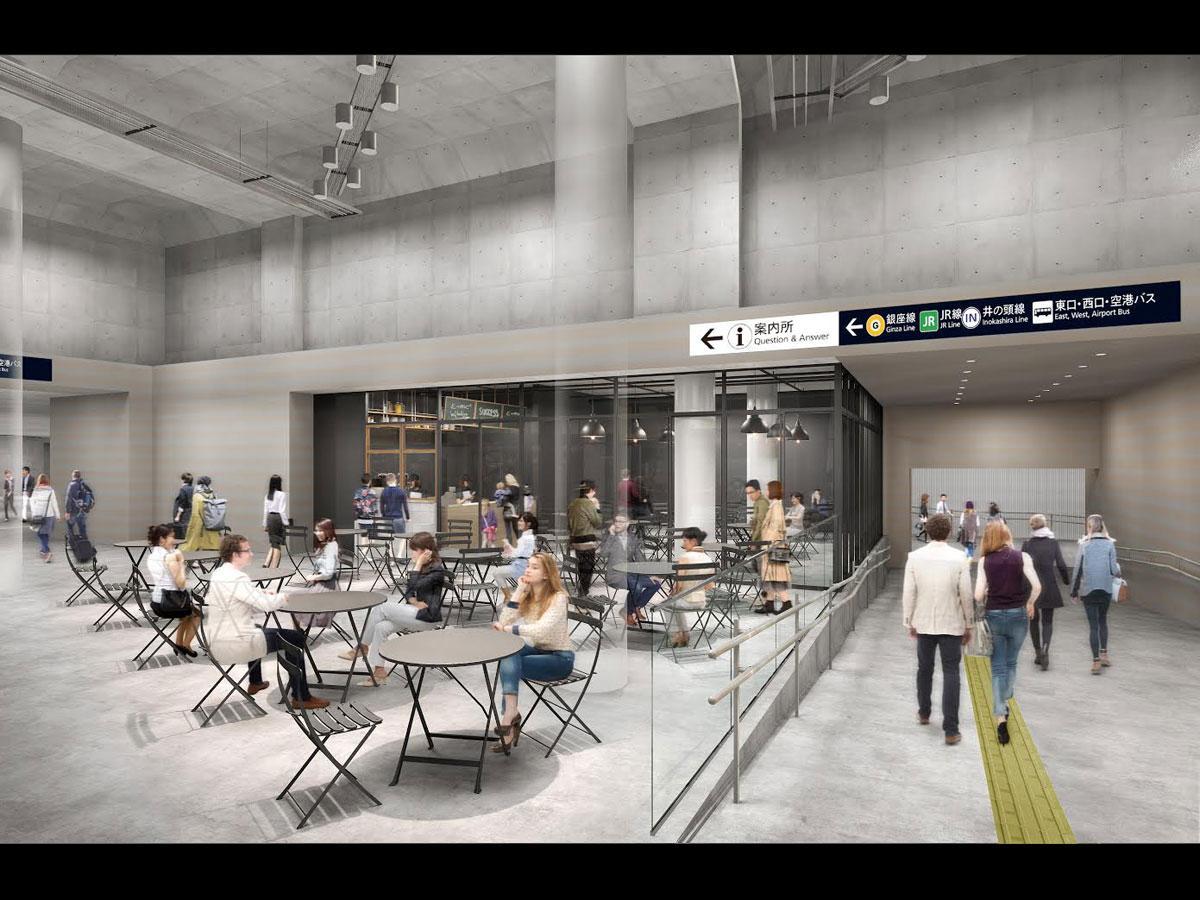情報発信や観光案内機能を持たせるカフェのイメージ(写真提供:一般社団法人渋谷駅前エリアマネジメント)