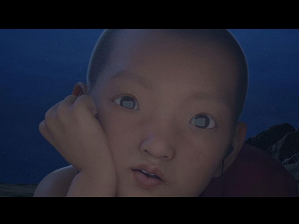 CGアニメーションプログラムで特別上映される「レディエイト」(田中謙光監督)より