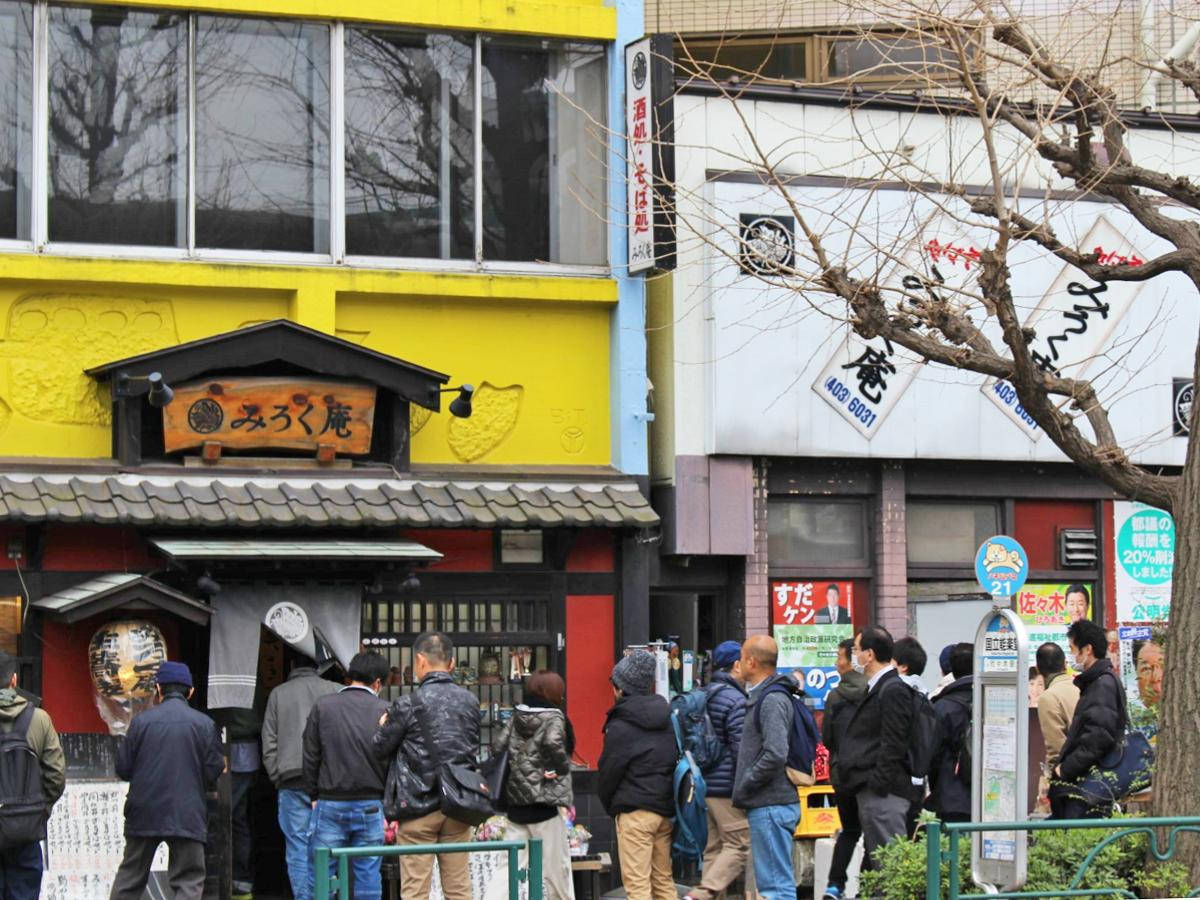 3月に閉店した「みろく庵」。閉店前には行列もできた