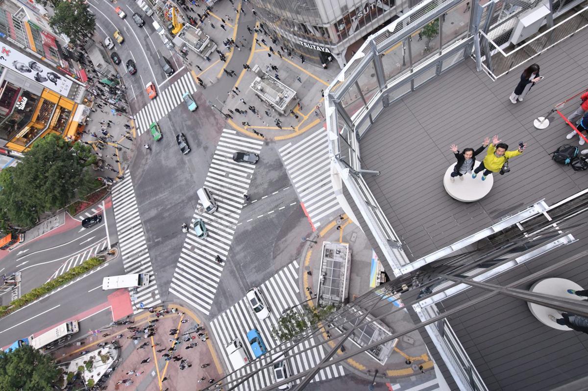 渋谷スクランブル交差点を見下ろせるフォトスポット「CROSSING PHOTO」で撮影された画像