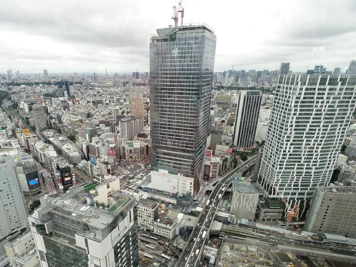 「渋谷スクランブルスクエア東棟」外観(写真中央)