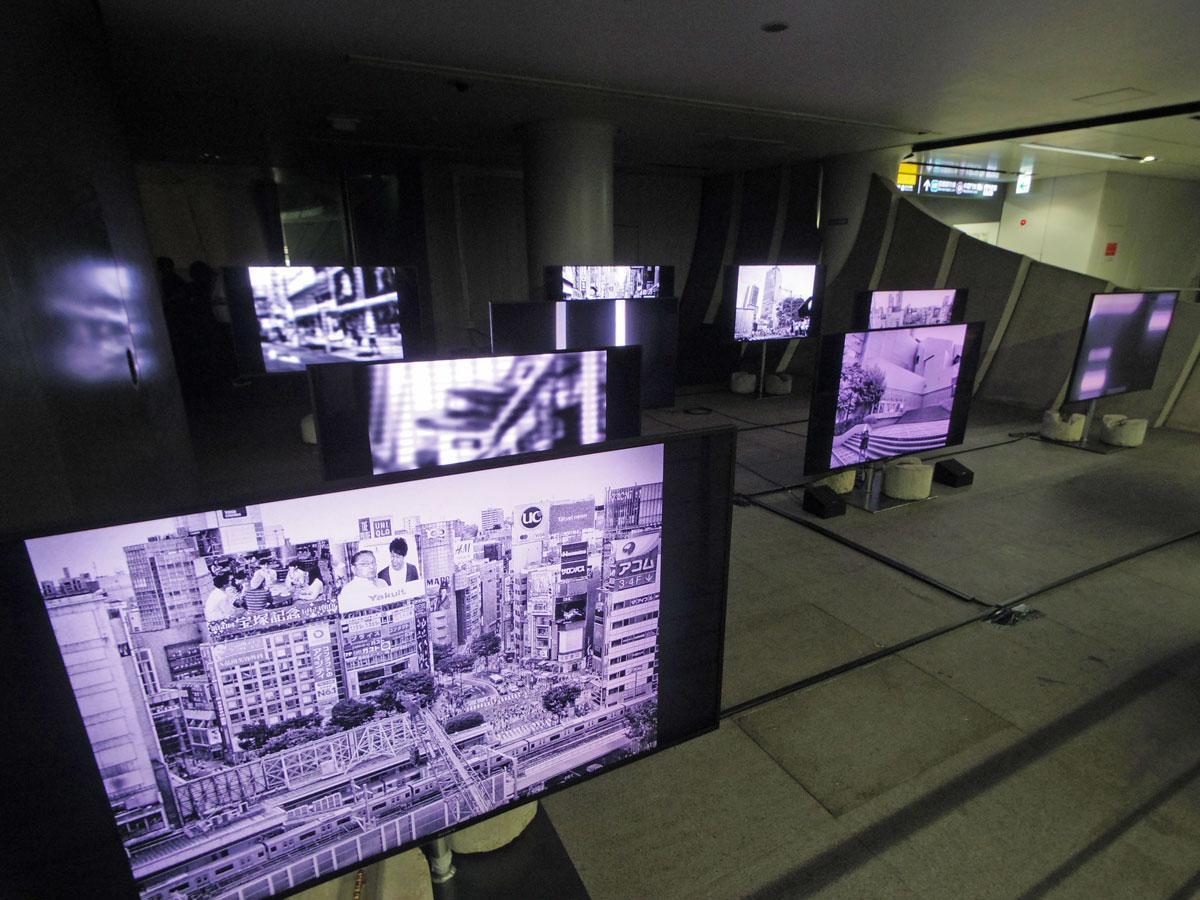 渋谷駅地下4階に展示する森山大道さんの新作