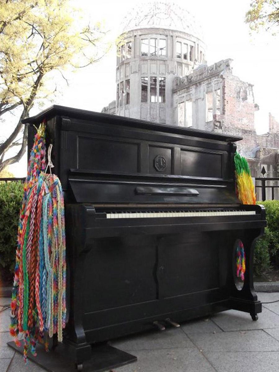 原爆に遭ったピアノを修復した「被爆ピアノ」