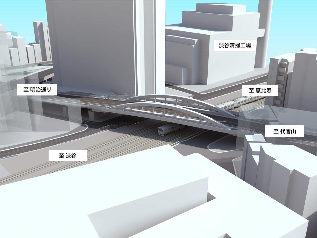 架け替え検討中の「猿楽橋」完成イメージ ※今後の検討により変更となる場合がある