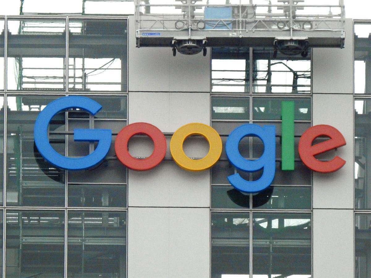 「渋谷ストリーム」外壁に取り付けられた「Google」のロゴ