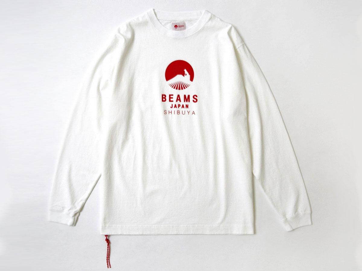 胸元のロゴに忠犬ハチ公像をデザインしたロングTシャツ(7,800円)