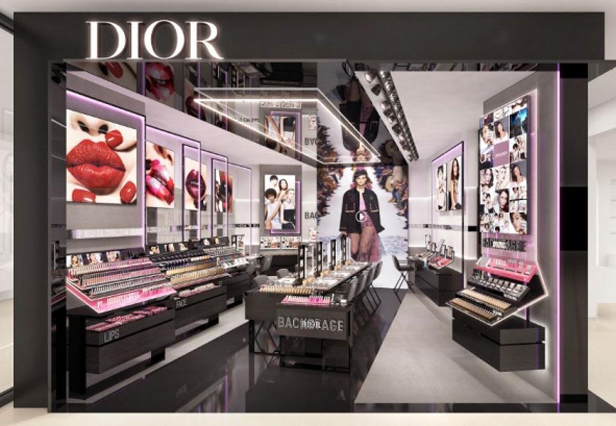 ファッションショーのステージのような空間に仕上げる店舗イメージ
