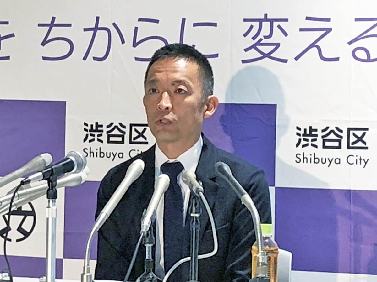 ハロウィーンを目前に控え会見に臨んだ長谷部健渋谷区長