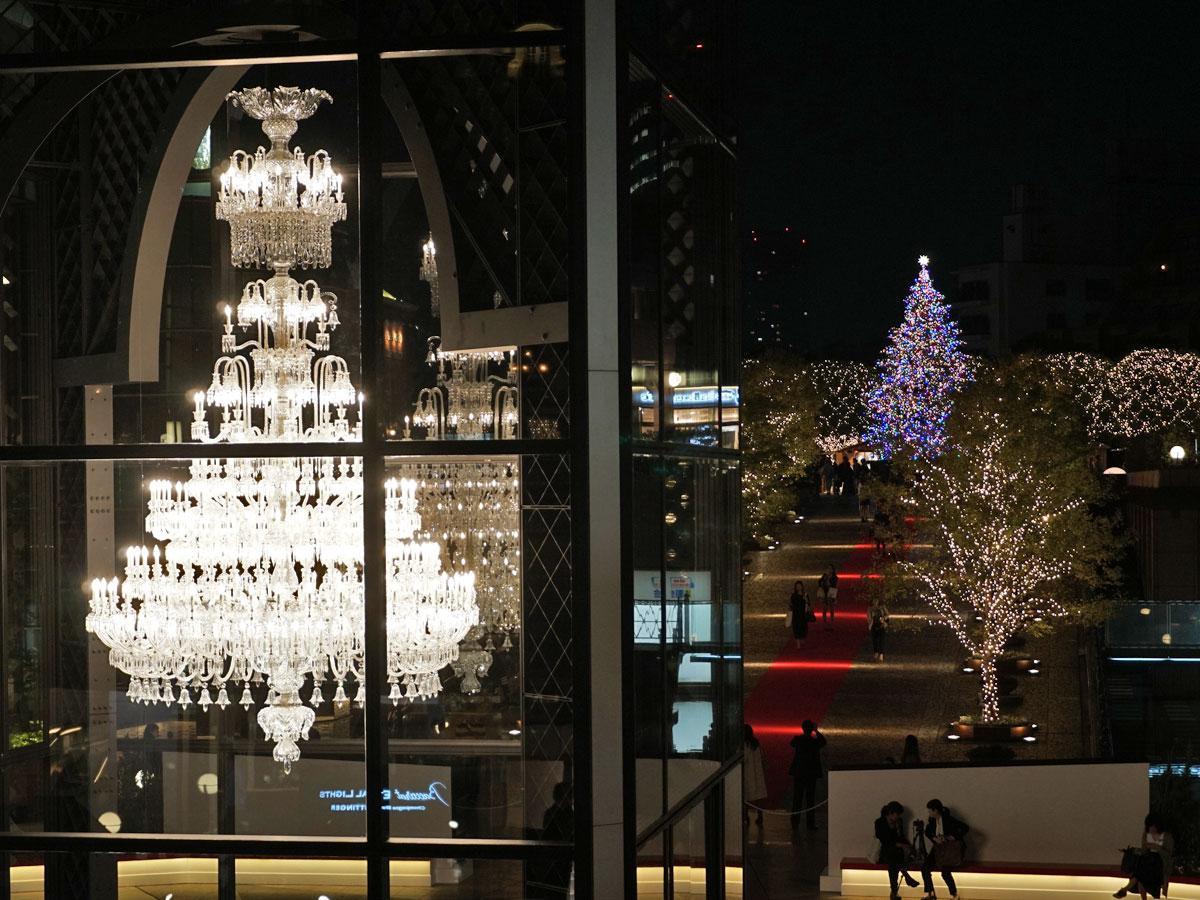 恵比寿ガーデンプレイスに「バカラ」シャンデリア 光による演出も - シブヤ経済新聞