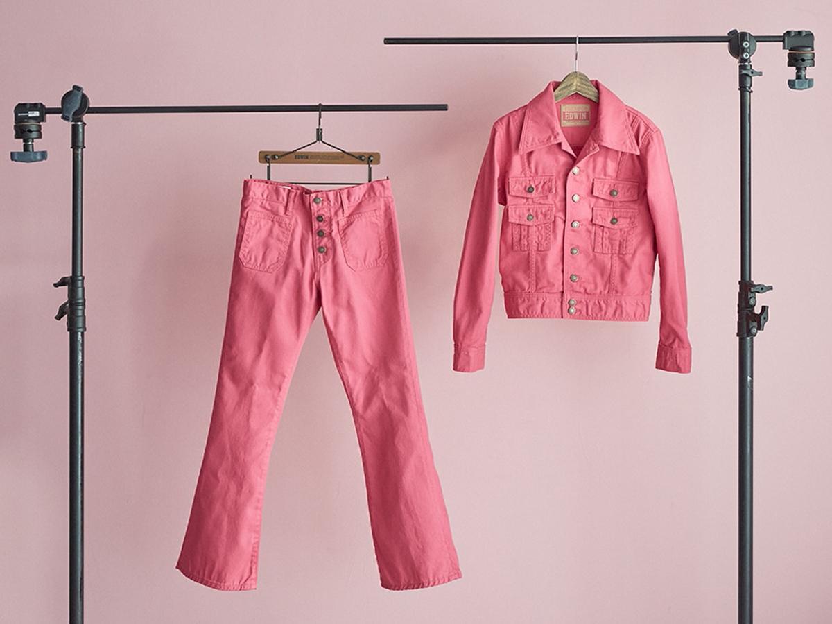 ピンク一色の「70's JACKET」(1万5,400円)、「70's FALRE」(1万1,000円)