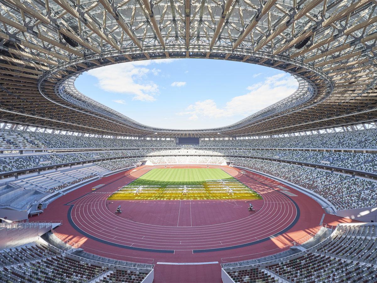 約6万席用意するスタジアム内(写真提供:(独)日本スポーツ振興センター)