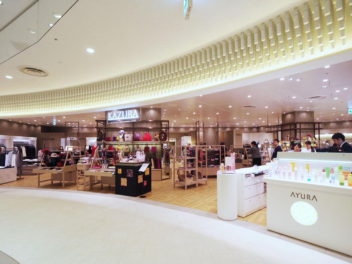 東急東横店内の「人気」ショップを中心に扱う「KAZURA」