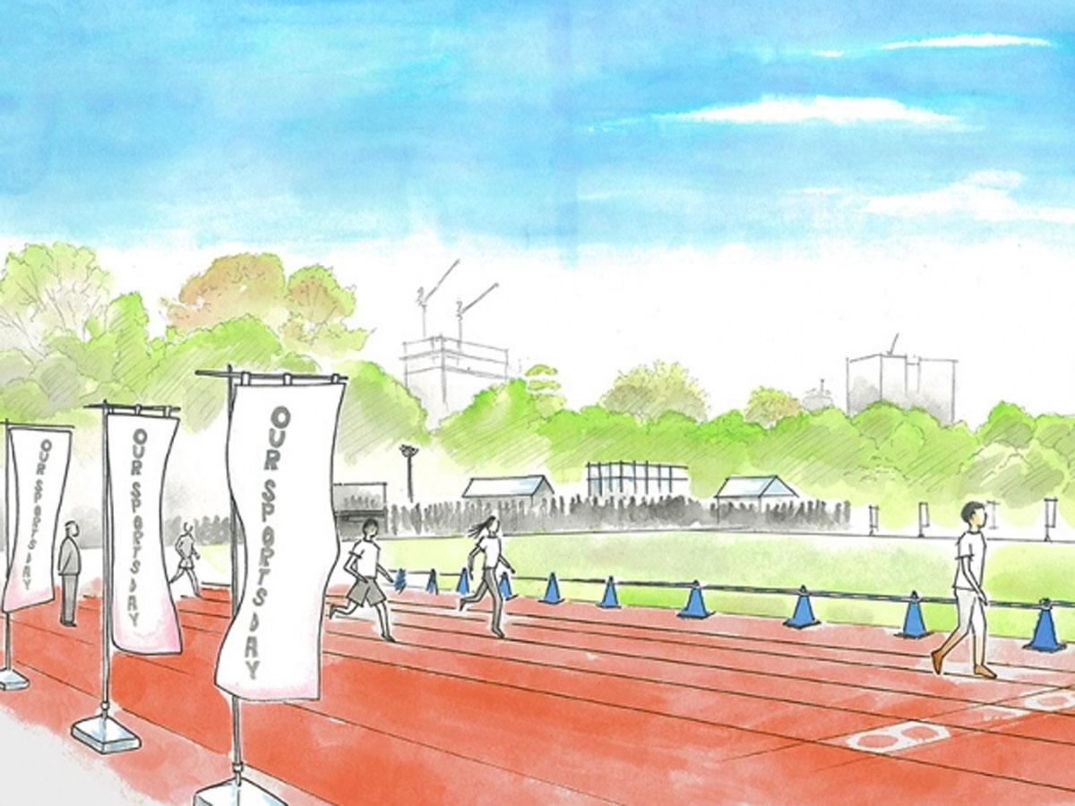 スポーツ体験や地域住民によるパフォーマンスなどを展開する「OUR SPORTS DAY」の会場イメージ