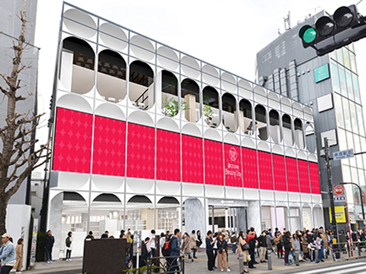 原宿駅前に位置する「@COSME TOKYO」の外観イメージ