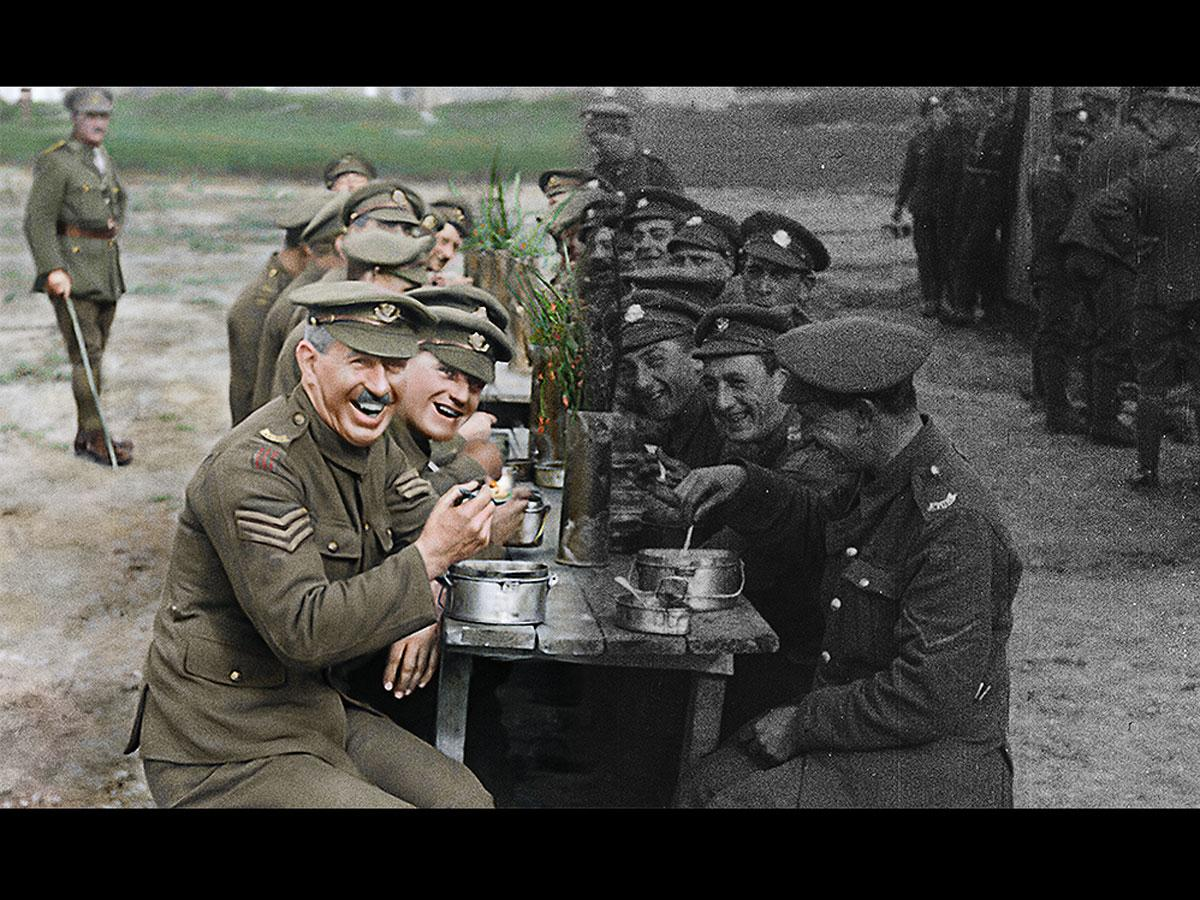第一次世界大戦の記録映像をカラー化するなどした「彼らは生きていた」より©2018 Warner Bros. Ent. All Rights Reserved