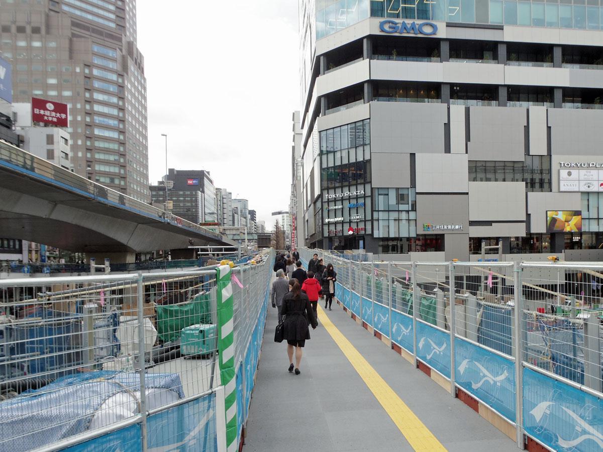 供用が始まった渋谷駅と渋谷フクラスを結ぶ新たな橋桁