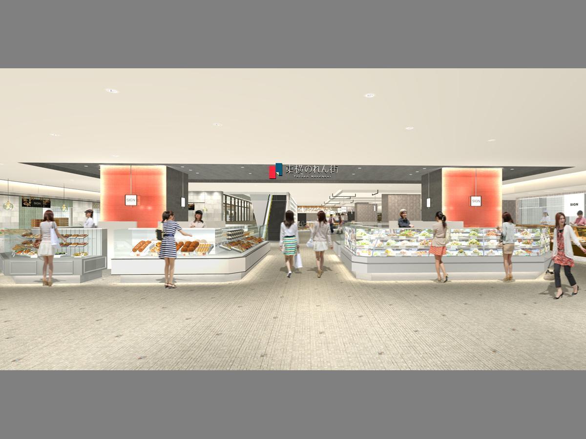 渋谷ヒカリエ ShinQs内に新たにオープンする「東横のれん街」(イメージ)