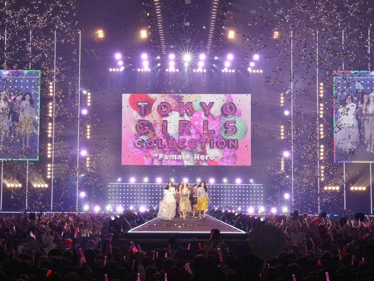 改修前の国立代々木第一体育館で開催された「TGC 2017 S/S」より?TOKYO GIRLS COLLECTION 2017 S/S