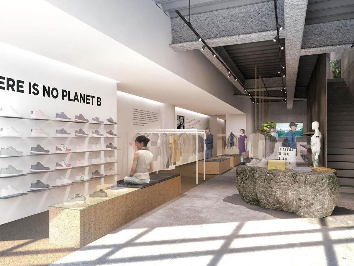 木や石など持続可能な素材を取り入れる店内(写真はイメージ)